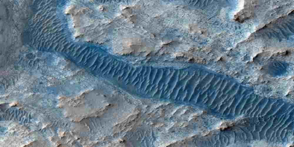 craterul de pe marte a fost un lac unde se afla fosile