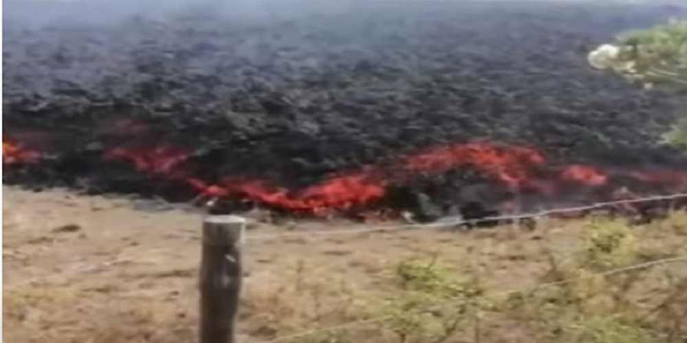 inregistrat sunetul lavei care se scurge din vulcan